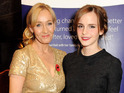 The Hermione Granger actress attends a fundraiser for Rowling's charity Lumos.