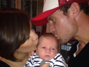 Frankie Sandford posts first baby photo