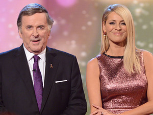 Terry Wogan and Tess Daly