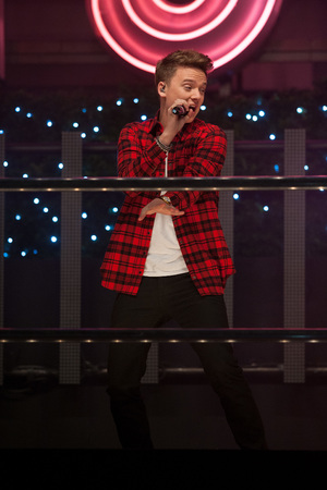 Conor Maynard performs at the switching on of the Christmas Lights on Oxford Street, London.