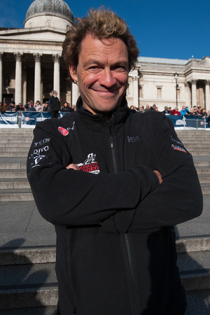 Dominic West in Trafalgar Square for the Walking With The Wounded departure