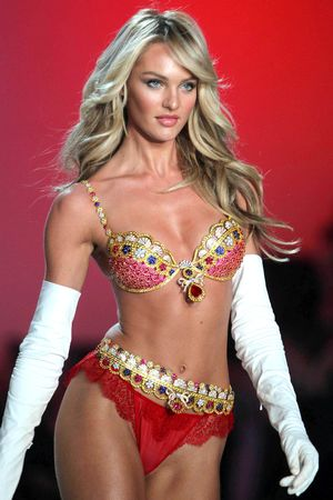 Candice Swanepoel on the catwalk at the Victoria's Secret Fashion Show