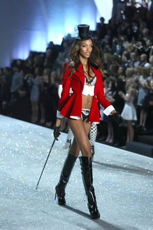 Jourdan Dunn on the catwalk at the Victoria's Secret Fashion Show