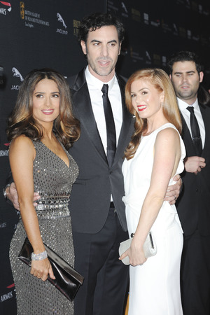 BAFTA Britannia Awards, Los Angeles, America - 09 Nov 2013 Salma Hayak, Sacha Baron Cohen, Isla Fisher