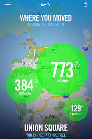 Nike+ Move app for iOS