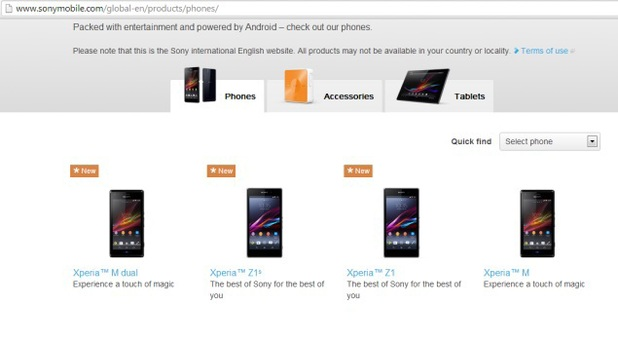 Xperia X1S listing