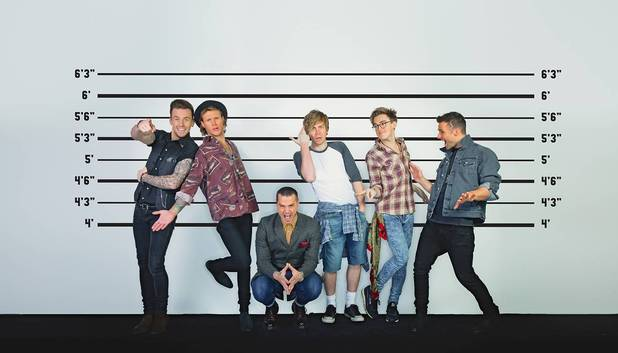 McFly and Busted in McBusted press shot 2013.
