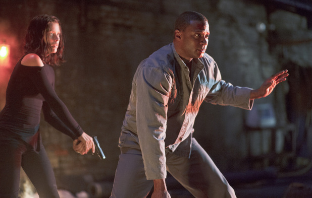 Audrey Marie Anderson as Lyla Michaels and David Ramsey as John Diggle in Arrow S02E06: 'Keep Your Enemies Closer'