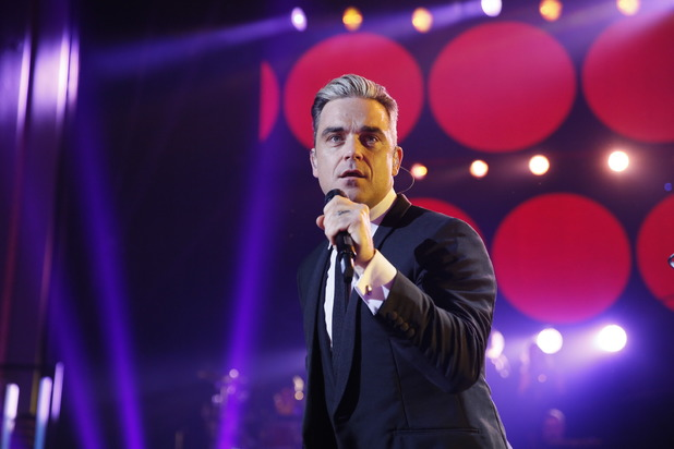 Robbie Williams performs as part of Children in Need Rocks 2013