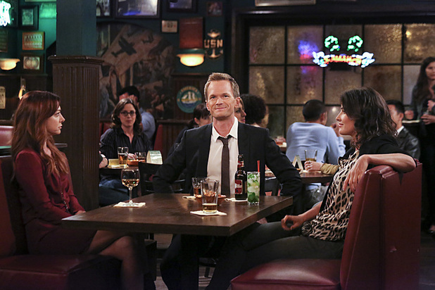 Alyson Hannigan as Lily, Neil Patrick Harris as Barney and Cobie Smulders as Robin in How I Met Your Mother: 'Platonish'