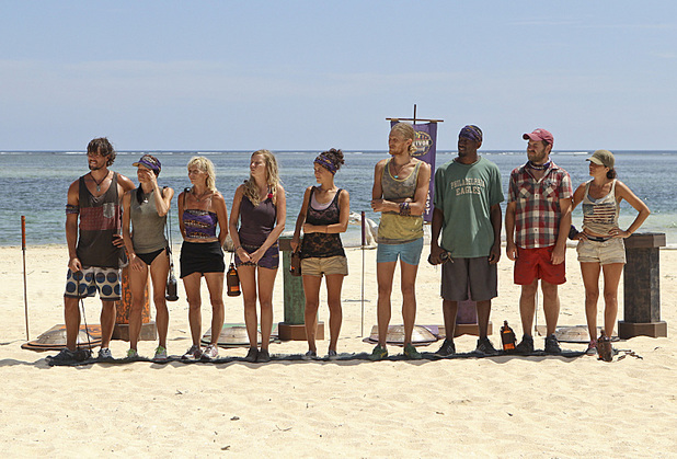 The contestants get ready to compete for immunity in 'Survivor: Blood vs Water' - 'My Brother's Keeper'