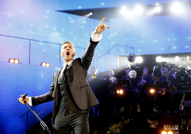 Gary Barlow performs as part of Children in Need Rocks 2013