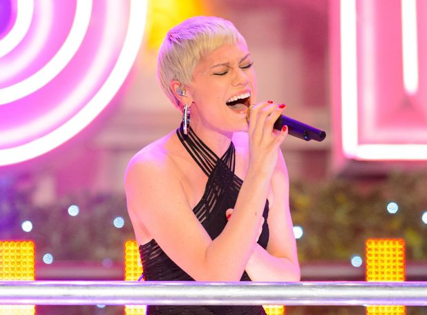 Jessie J performs at the switching on of the Christmas Lights on Oxford Street, London.