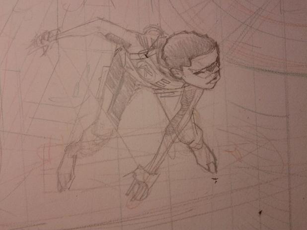 Sean Murphy's African-American Robin sketch