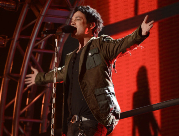 Jeff Gutt performs during The X Factor USA 80s week