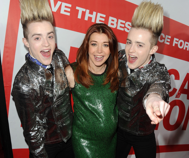 Jedward with Alyson Hannigan