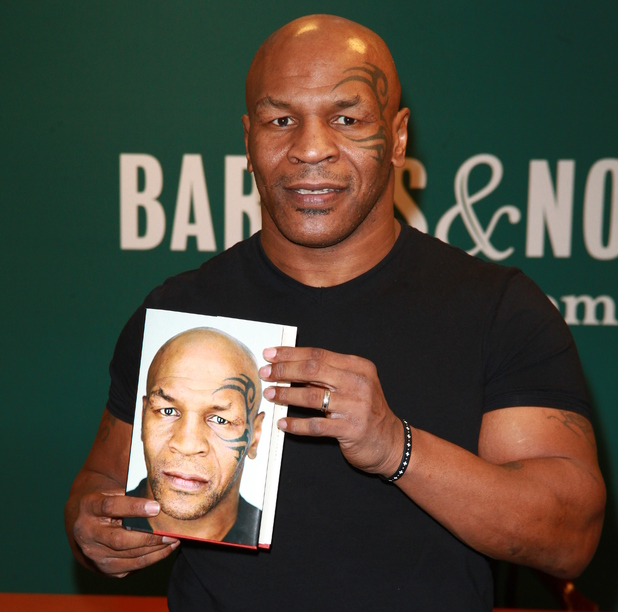 Mike Tyson with his book 'Undisputed Truth' at Barnes and Noble Fifth Avenue
