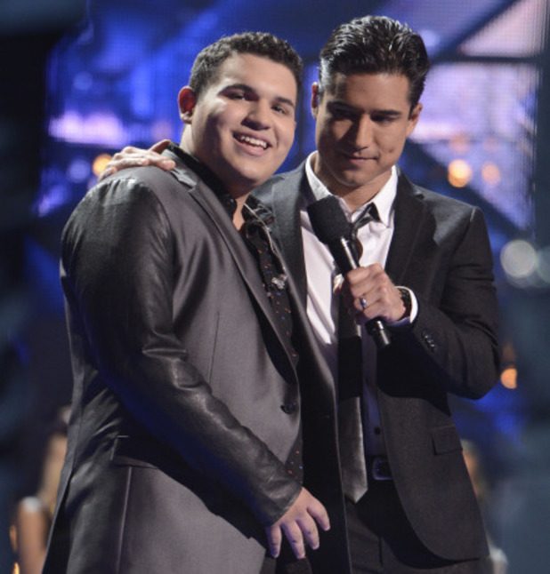 Calos Guevera is eliminated during The X Factor USA 80s week