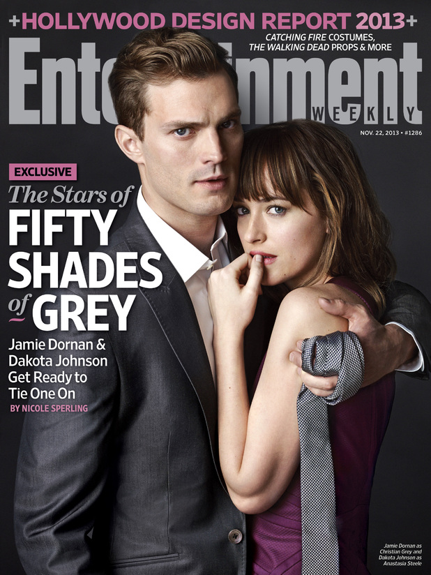 Entertainment Weekly cover featuring 'Fifty Shades of Grey' character portrait