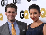"Matthew Morrison and Renee Puente at the GQ ""Men of the Year"" event at The Ebell Theatre"