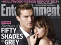 Christian Grey and Anastasia Steele together for the first time in photoshoot.
