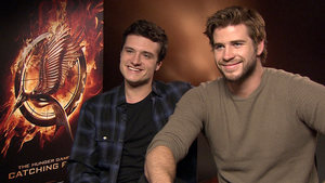 Josh Hutcherson and Liam Hemsworth 'The Hunger Games: Catching Fire'