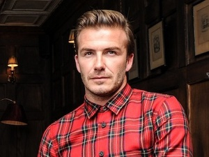 David Beckham in a behind the scenes shot from 'The Class Of '92'