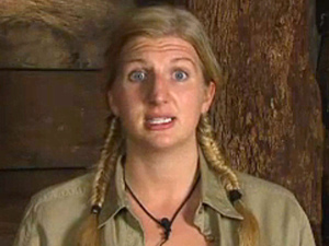 Rebecca Adlington cries in the Bush Telegraph after a discussion about beauty with Amy Willerton