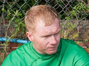 Paul Scholes in a behind the scenes shot from 'The Class Of '92'