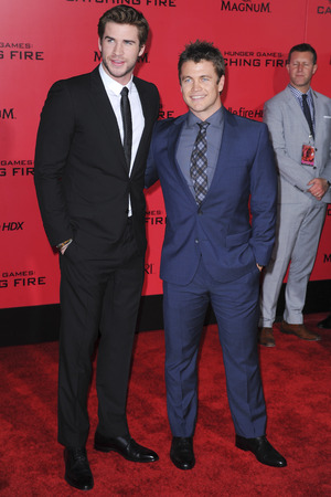 Liam and Luke Hemsworth 'The Hunger Games: Catching Fire' film premiere, Los Angeles, America - 18 Nov 2013