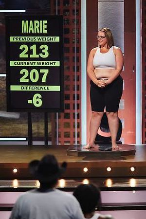 Marie's weigh-in during episode 6 of The Biggest Loser