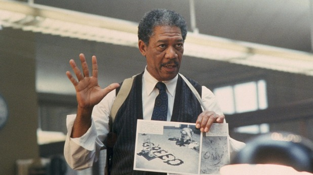 Morgan Freeman in 'Se7en'