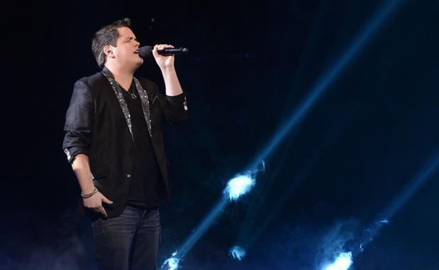 Tim Olstad performs during The X Factor USA British Invasion week