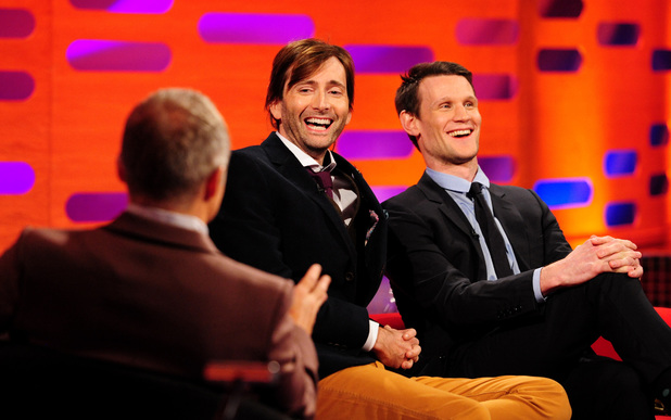 Matt Smith and David Tennant appear on 'The Graham Norton Show'