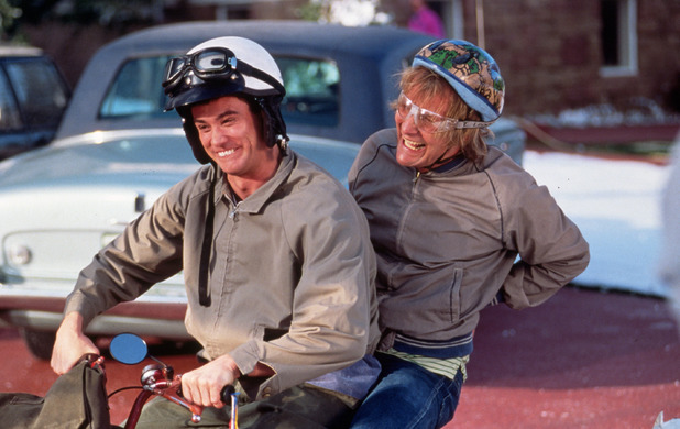 1994, JIM CARREY, JEFF DANIELS, PETER FARRELLY *** local caption *** FILM STILLS OF 'DUMB AND DUMBER' WITH 1994, JIM CARREY, JEFF DANIELS, PETER FARRELLY IN 1994