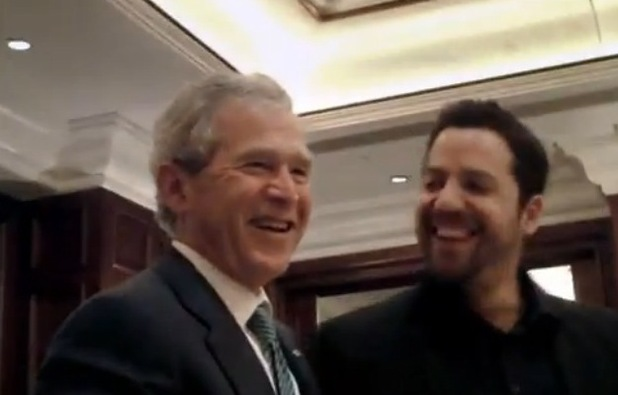 David Blaine with George Bush