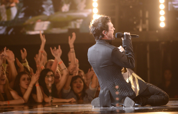 Jeff Gutt performs during The X Factor USA British Invasion week