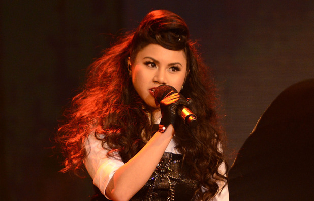 Ellona Santiago performs during The X Factor USA British Invasion week