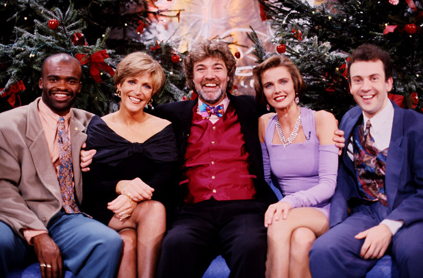 L-R.Kriss Akabusi, Judi Spiers, Matthew Kelly, Annabel Giles and Andrew O'Connor in 'You Bet' - 1992 1992