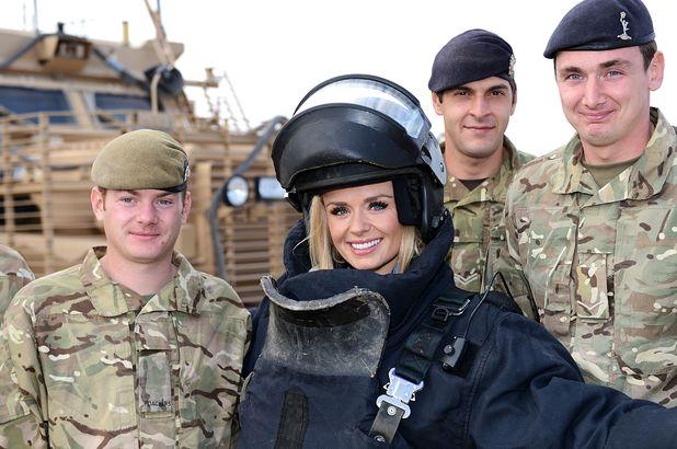 Katherine Jenkins Visits Camp Bastion, Afghanistan