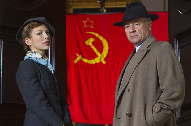 Honeysuckle Weeks as Sam and Michael Kitchen as Foyle in ITV's 'Foyle's War'