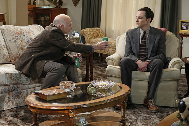 Casey Sander and Jim Parsons in The Big Bang Theory: 'The Thanksgiving Decoupling'