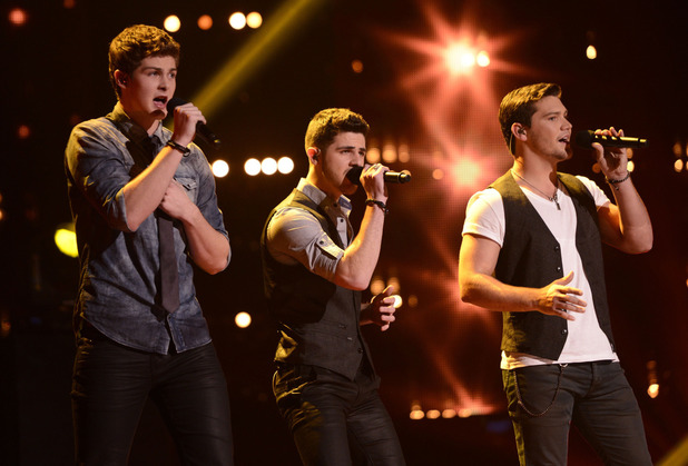 Restless Road perform during The X Factor USA British Invasion week