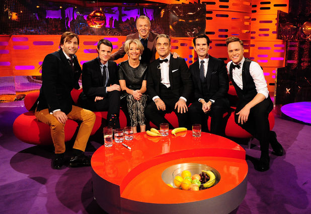 'The Graham Norton Show' lineup for November 22, 2013: Matt Smith, David Tennant, Olly Murs, Robbie Williams, Jimmy Carr, Emma Thompson