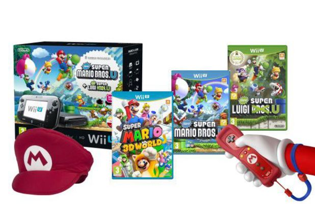 'Mario Mega Wii U Bundle' contents