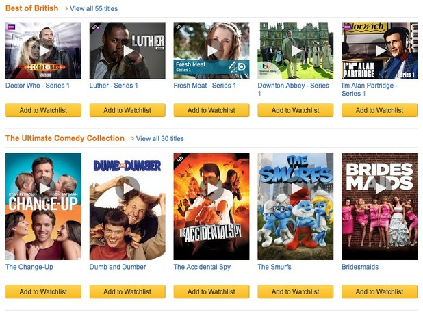 Lovefilm Instant movie streaming screenshot