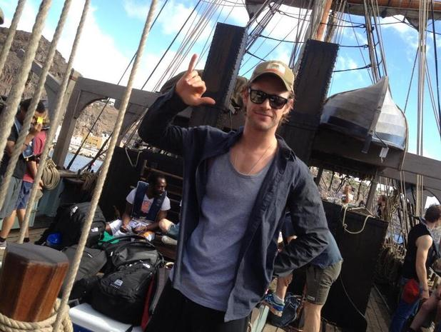 Chris Hemsworth, In the Heart of the Sea, Ron Howard twitter page