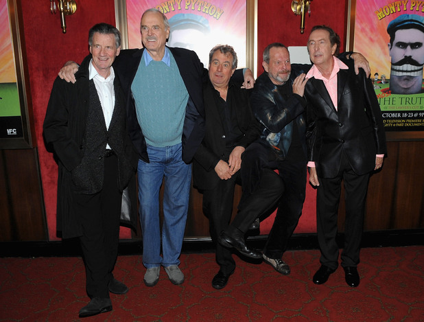 Monty Python's Michael Palin, John Cleese, Terry Jones, Terry Gilliam and Eric Idle photographed in 2009