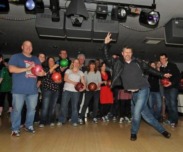 Adam Hills goes bowling