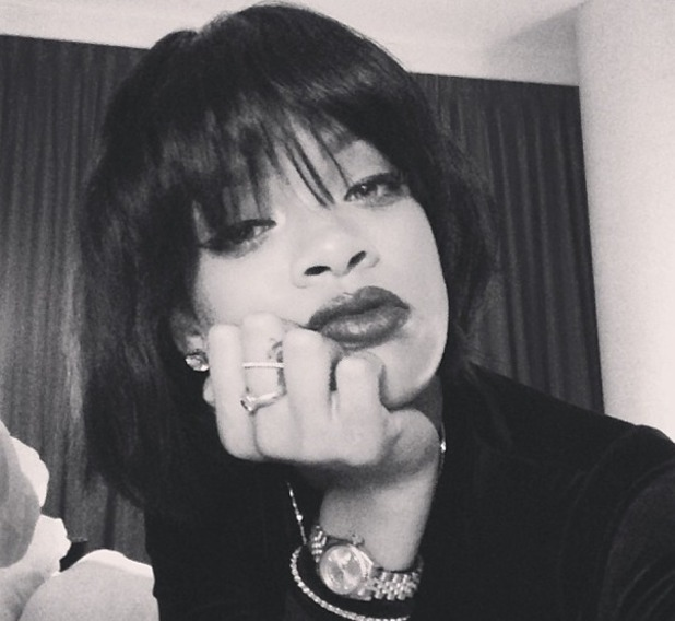 Rihanna shows off her latest hairdo